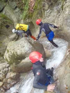 Canyoning sportif : longue marche au fond des gorges