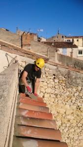 Référence batiment : reprise d'étanchéité sur l'acrotère en bordure de terrasse